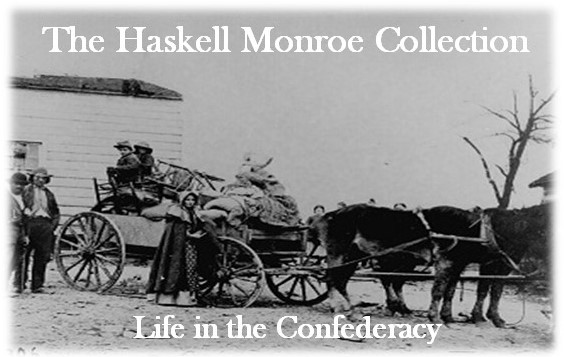 The Haskell Monroe Collection: Life in the Confederacy