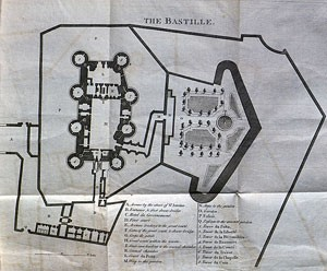 Ground plan of the Bastille, from the 1780 English edition