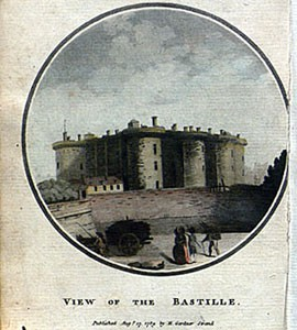 Illustration of the Bastille, from the 1789 English edition