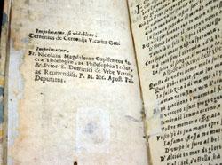 Imprimatur in Il maritaggio delle mvse: poema drammatico by Giovanni Giacomo Ricci (Venice, 1633).