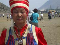 "Buryat performer at the annual ""Yerd Games"" festival"