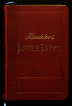 Cover of Baedeker's Lower Egypt (Leipzig, 1895)