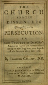 The Church and the Dissenters Compared as to Persecution