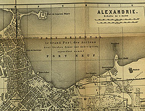 Detail from a map of Alexandria in Baedeker's Lower Egypt (Leipzig, 1895)
