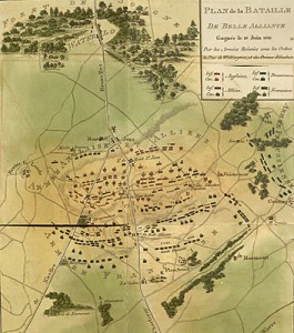 Map of the Battle of Waterloo from Southey's Life of Wellington (Dublin, 1816).