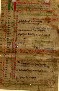 The verso of the same 12th-century calendar we have looked at above
