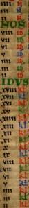 Julian Calendar, from Twelfth-Century English Calendar