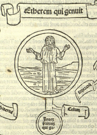 Detail, Geneologia deorum gentilium, Venice, 1494