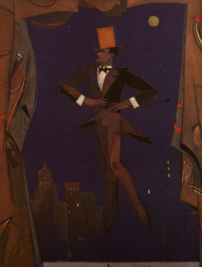 The frontispiece of an edition of The Great Gatsby featuring Gatsby himself.