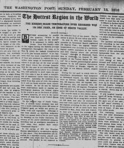 Washington Post, Feb. 13, 1916