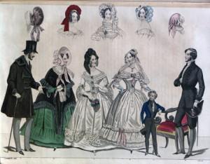 Dapper gentlemen from Allgemeines Modenzeitung, 1839