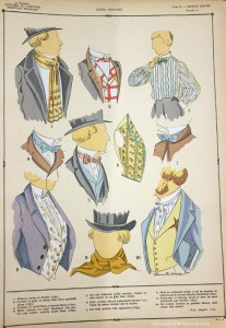 Neckwear of the Second Empire, from Histoire du costume masculin francais (Paris, 1927).