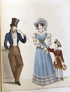 Dapper gentlemen from Allgemeine Modenzeitung, 1823