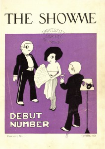 The very fist issue of Showme Magazine, fall 1920