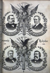 Presidential ties, from Germania Kalender (Milwaukee, 1885)