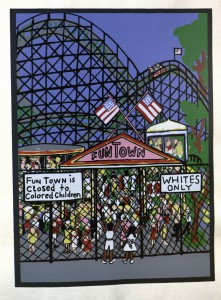 Faith Ringgold illustration from Letter from Birmingham City Jail by Martin Luther King