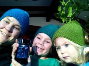 Johanna Kramer and children, January 2014