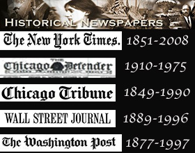 Proquest's Historical Newspapers