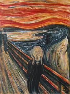 Scream painting, originally titled Der Schrei der Natur (The Scream of Nature) by Edvard Munch