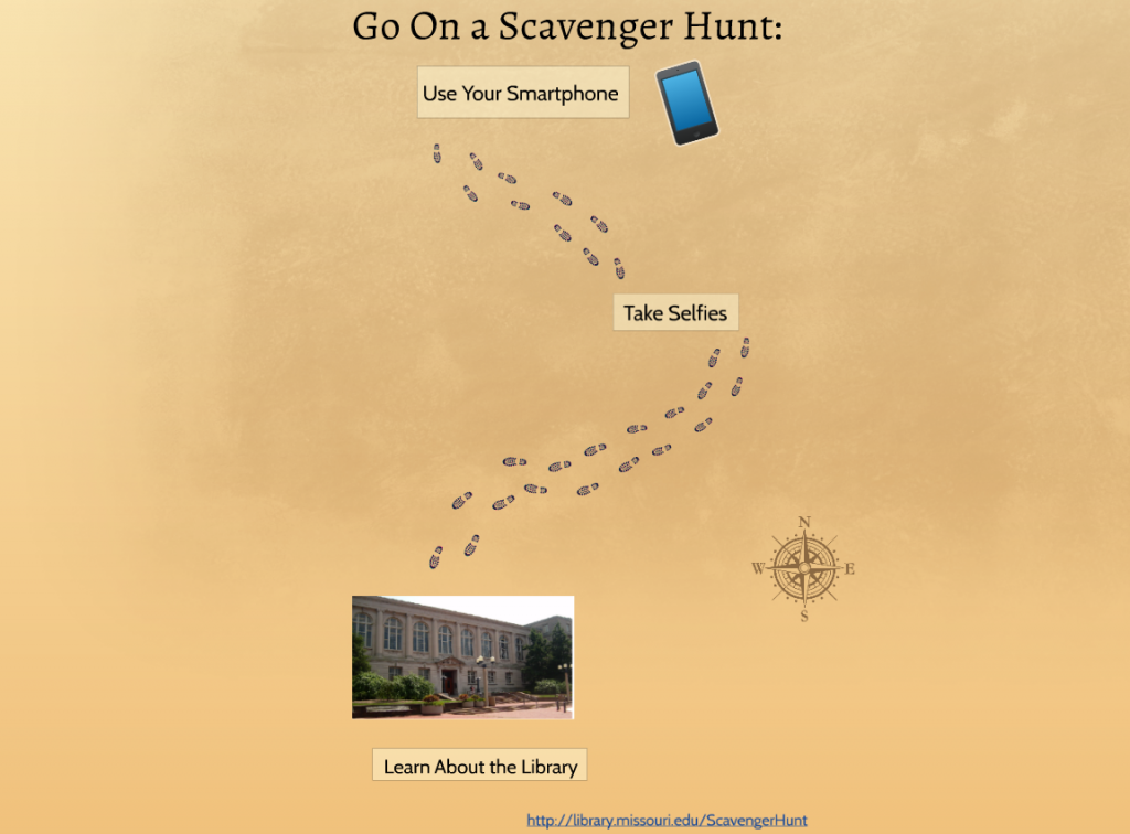 library scavenger hunt graphic