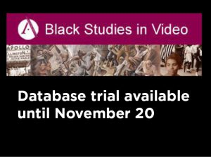Database Trial: Black Studies in Video