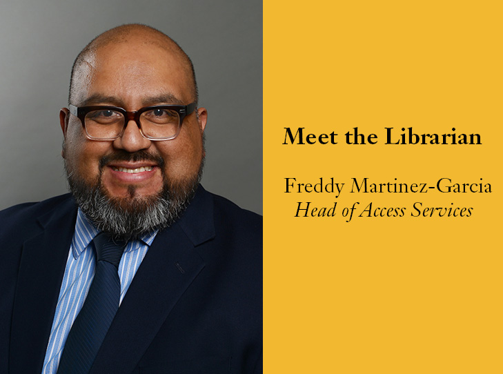 meet the librarian federico martinez garcia head access services. Resume Example. Resume CV Cover Letter