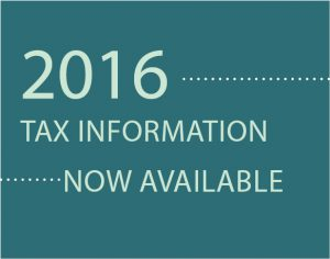 2016 Tax Information Is Now Available