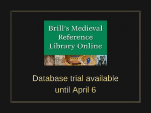 Database Trial: Brill's Medieval Reference Library Online