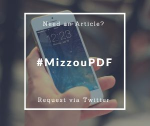 Need an Article? Use #MizzouPDF