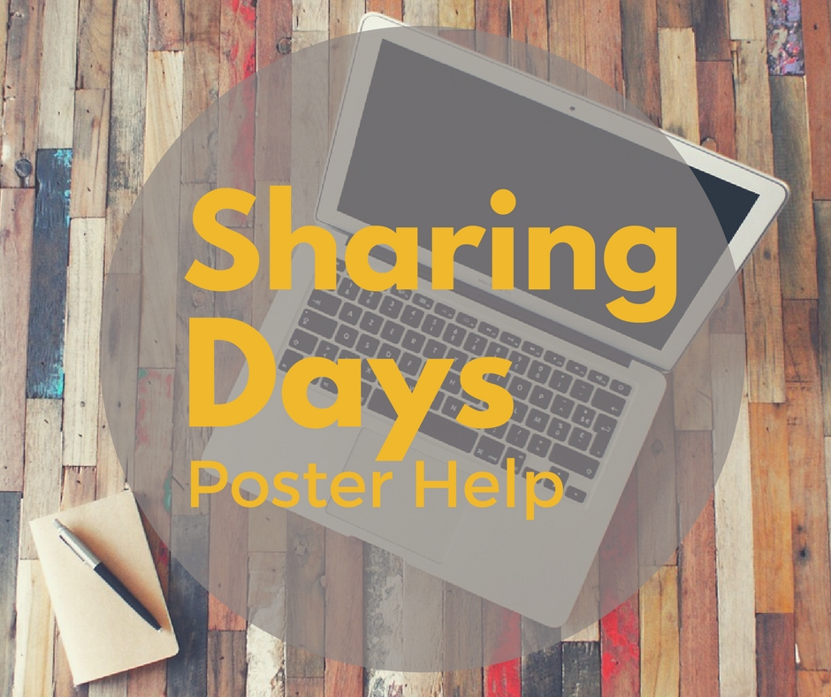 Sharing Days Poster Help