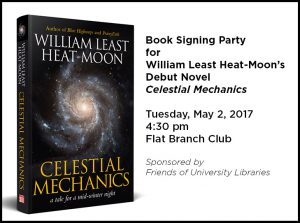 William Least Heat-Moon Celebrating the Release of his Debut Novel, May 2