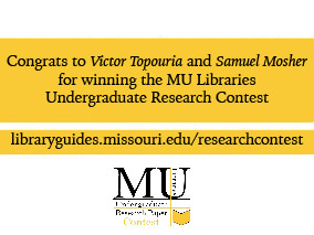Congratulations to the Undergraduate Research Contest Winners!
