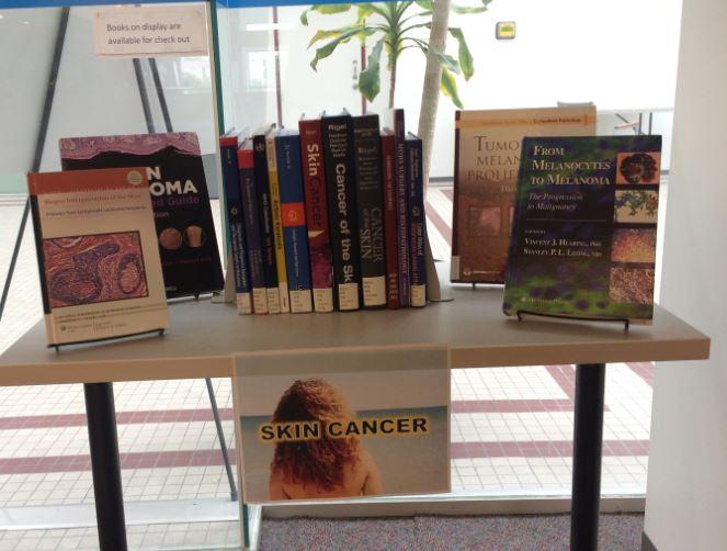 Skin Cancer Book Display