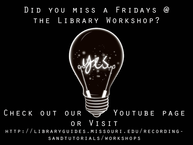 Fridays @ the Library Workshops Available Online