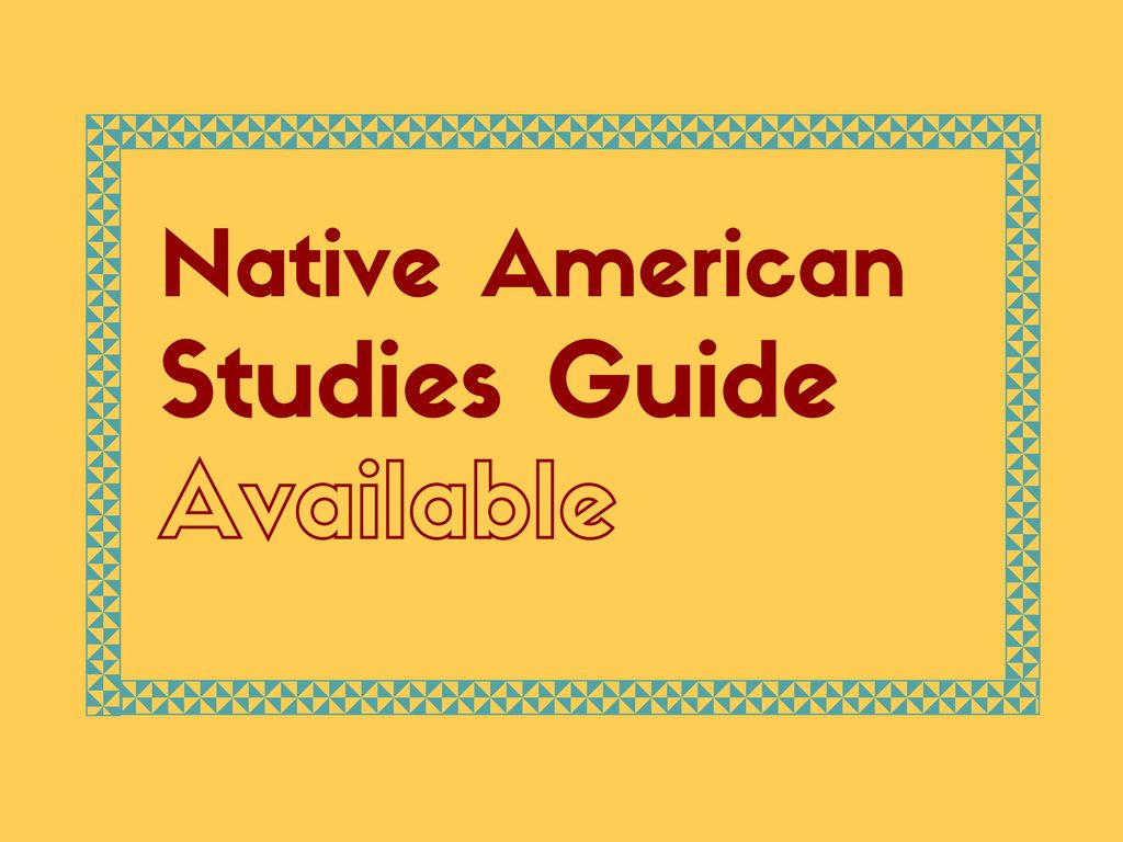 Native American Studies Guide Available