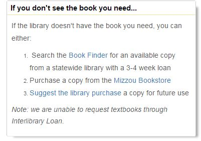 Textbooks Library News
