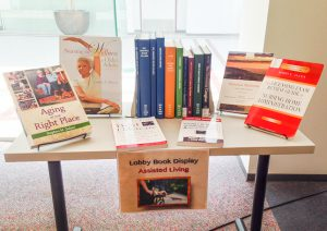 Assisted Living Book Display at the Health Sciences Library