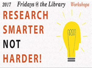 Fridays @ the Library Workshops Fall 2017