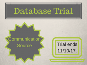 Database Trial: Communication Source