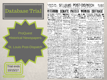 Database Trial: ProQuest Historical Newspapers: St. Louis Post-Dispatch