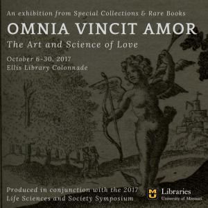 On Exhibit in October: Omnia Vincit Amor, the Art and Science of Love