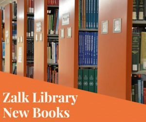 Zalk Library: New Books!