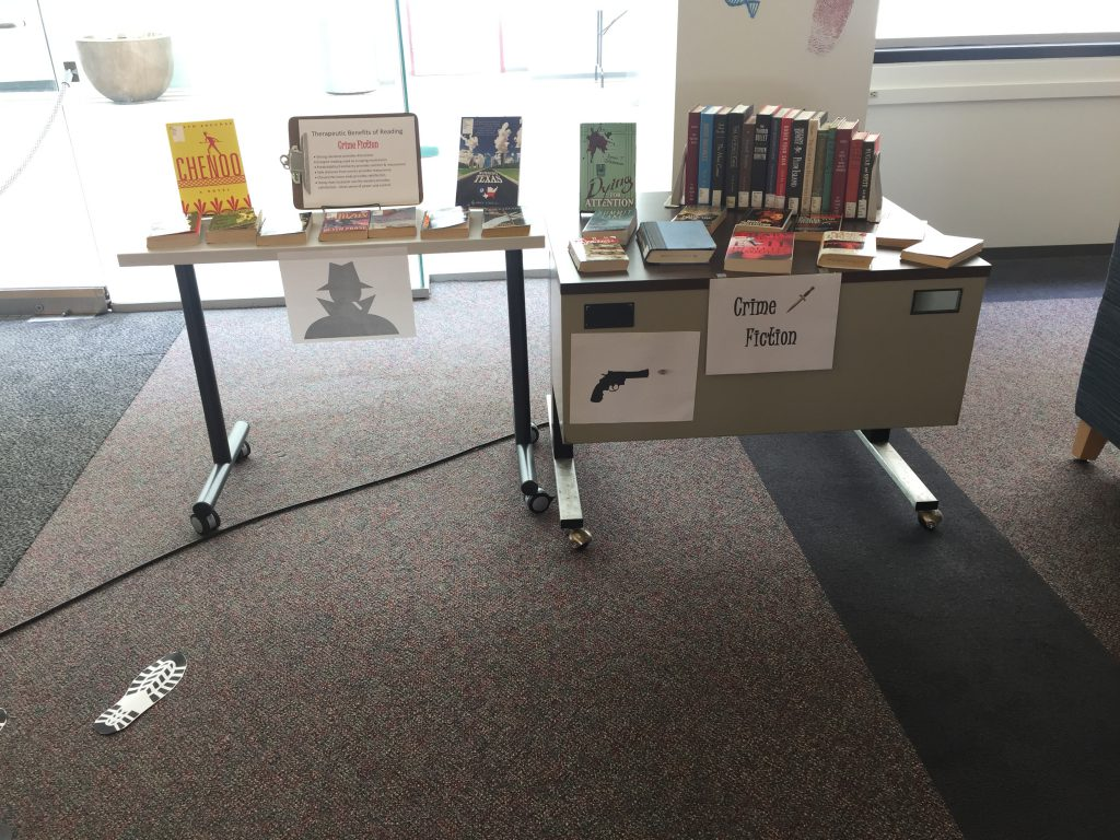 Health Sciences Library Book Display: Crime Fiction