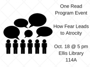 How Fear Leads to Atrocity: One Read Program Event