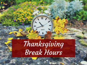 Engineering Library : Thanksgiving Break Hours