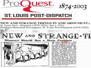 Proquest Historical St. Louis Post Dispatch