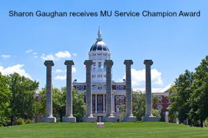 Sharon Gaughan Receives MU Service Champion Award