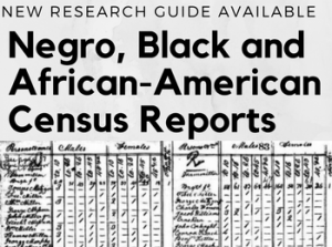New Research Guide: Negro, Black and African-American Census Reports