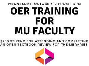 Intensive OER Symposium for MU Faculty 0 Stipend