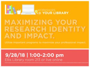Workshops @ Your Library, Sept. 28